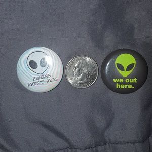 Fun Alien Pins